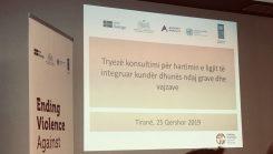 Albania: First steps towards an integrated law against gender based violence based on IC standards and measures!  Shqipëri: Hidhen hapat e parë për një ligj të integruar kundër dhunës ndaj vajzave e grave!